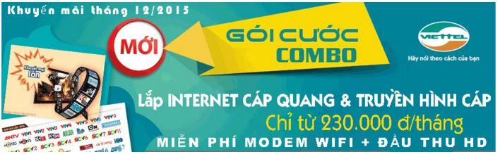 Khuyến mãi internet cáp quang Viettel tháng 12/2015 tại Bình Dương