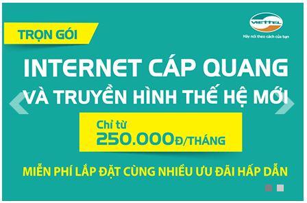 Viettel Tân Uyên khuyến mãi lắp mạng internet wifi